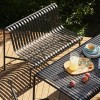 HAY PALISSADE DINING BENCH W/O ARMREST - ANTRACIET