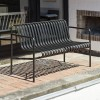 HAY PALISSADE DINING BENCH - ANTRACIET