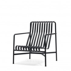 HAY PALISSADE HIGH LOUNGE CHAIR - ANTHRACITE