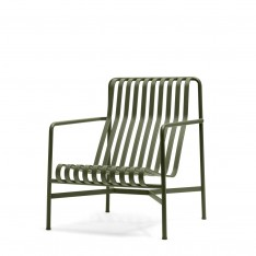 HAY PALISSADE HIGH LOUNGE CHAIR - OLIVE GREEN