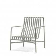 HAY PALISSADE HIGH LOUNGE CHAIR - GRIS CLAIR