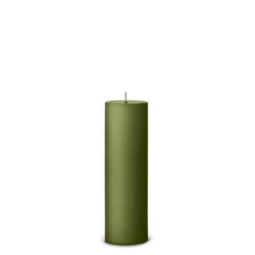 PILLAR CANDLE Ø 6cm H:20CM - OLIVE GREEN