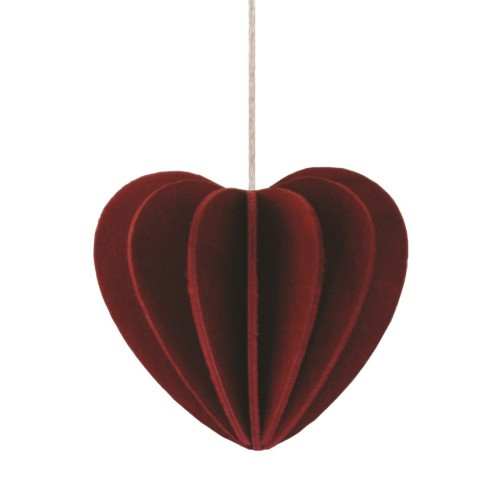 LOVI HEART 4,5CM DARK RED