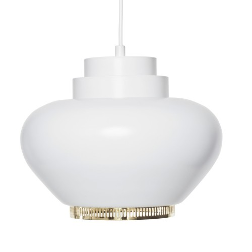 A333 HANGLAMP WIT/MESSING