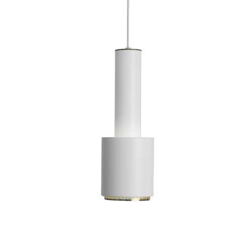 A110 HANGLAMP WIT/MESSING