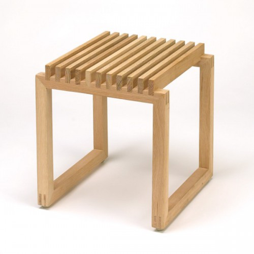 CUTTER STOOL OAK