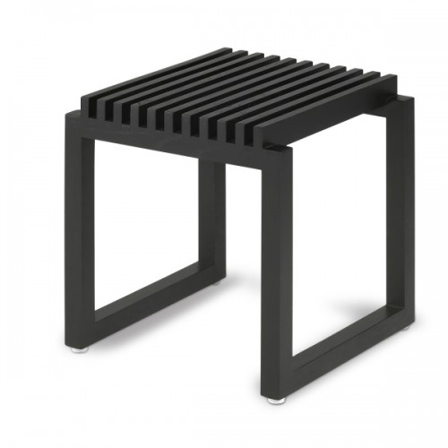 CUTTER STOOL BLACK OAK