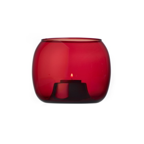 KAASA TEALIGHT HOLDER - CRANBERRY