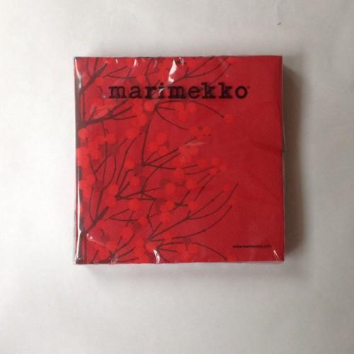 MARIMEKKO PAPER NAPKIN - LARGE - LUMIMARJA RED