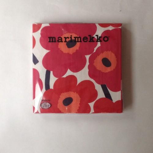 MARIMEKKO PAPER NAPKIN - LARGE - UNIKKO RED