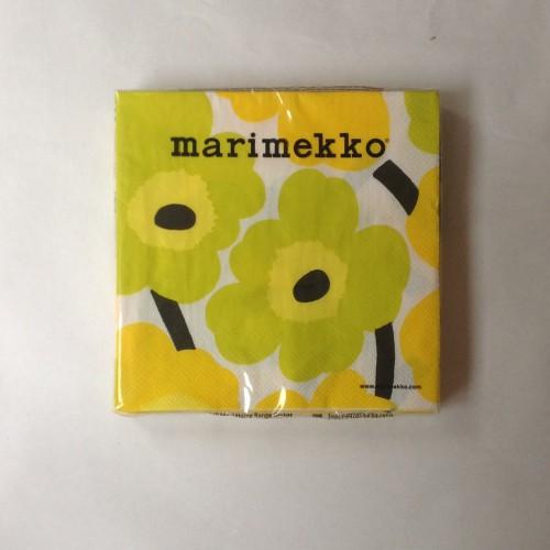 MARIMEKKO PAPER NAPKIN - LARGE - UNIKKO YELLOW