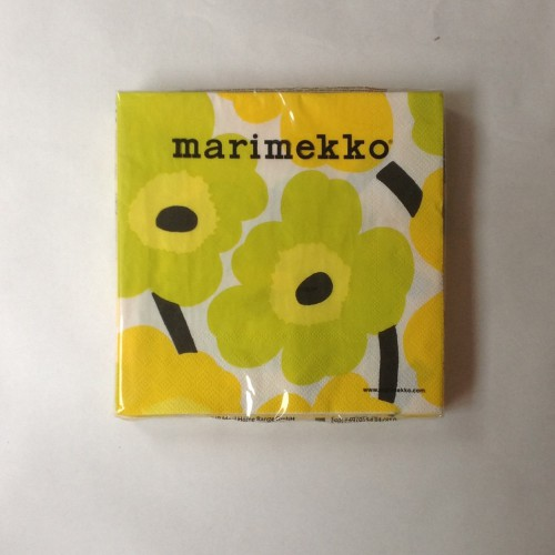 MARIMEKKO PAPIEREN SERVET - GROOT - UNIKKO GEEL