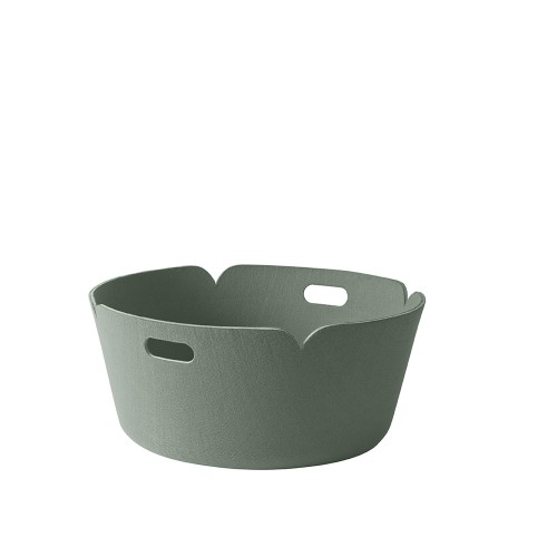 RESTORE ROUND BASKET - DUSTY GREEN