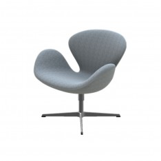 SWAN CHAIR FABRIC HALLINGDAL 130