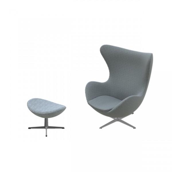 Egg Chair Stof.Fritz Hansen Egg Chair Gestoffeerd Hallingdal 130