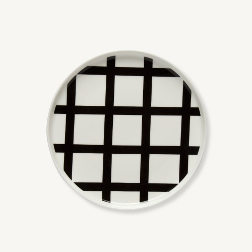 OIVA/SPALJE PLATE 20CM BLACK