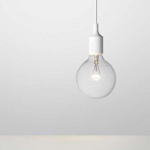 E27 PENDANT LAMP WHITE