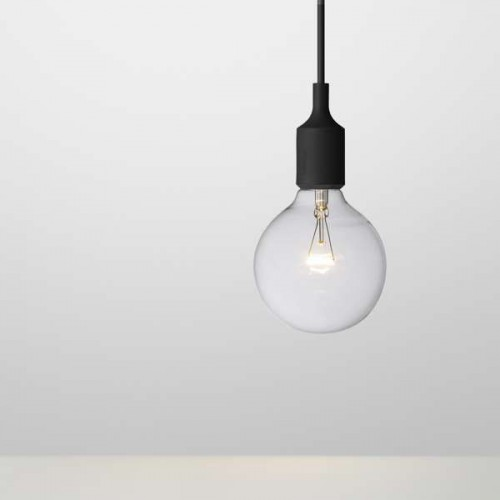 E27 LAMPE SUSPENSION NOIR