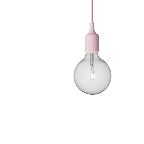 E27 LAMPE SUSPENSION ROSE