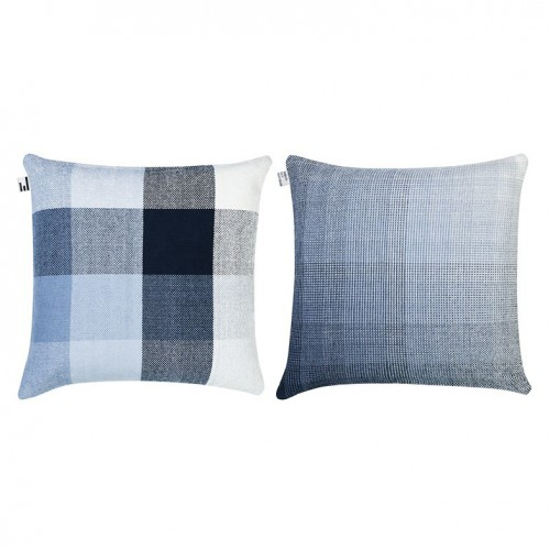 GRADIENT &SQUARES CUSHION COVER 65X65CM GIANT GREY