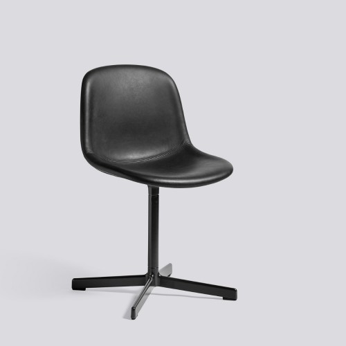NEU 10 CHAIR LEATHER SILK BLACK