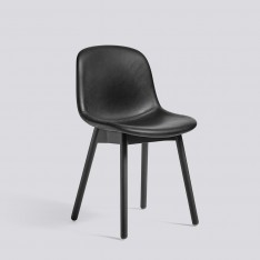 HAY NEU 13 CHAIR BLACK STAINED OAK BASE LEATHER SILK BLACK