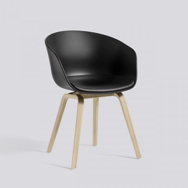 hay aac 22 chair with fixed seat upholstery. Black Bedroom Furniture Sets. Home Design Ideas