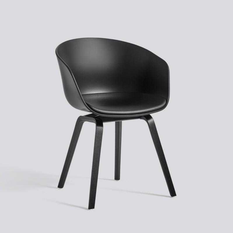 hay aac 22 chaise avec face avant recouverte de cuir. Black Bedroom Furniture Sets. Home Design Ideas