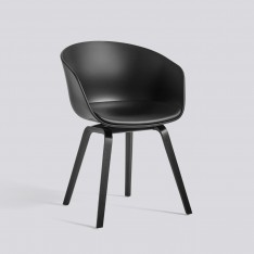 AAC 22 CHAIR FRONT LEATHER BLACK