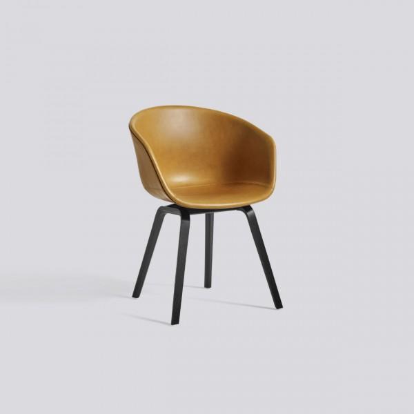 Hay aac 23 stoel met leerstoffering for Stoel leer
