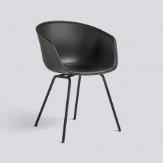 AAC 26 CHAIR FRONT LEATHER BLACK
