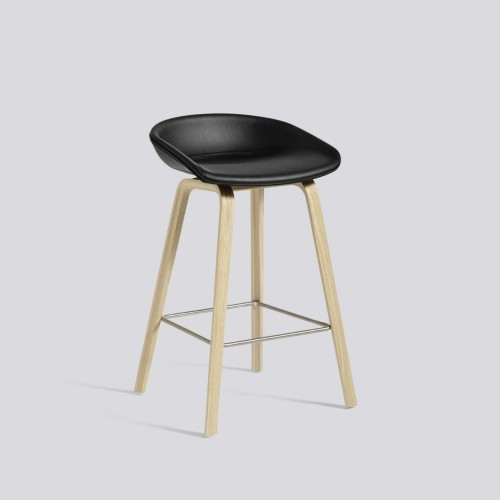 AAS 33 BAR STOOL LEATHER SIERRA BLACK