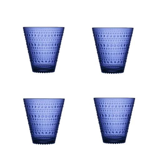 KASTEHELMI GLAS 30CL - 4 STUKS ULTRAMARIJNBLAUW