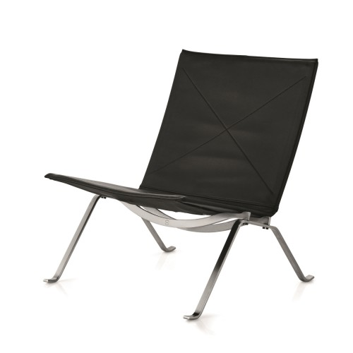 PK22™ CHAIR KLASSIEK LEER ZWART