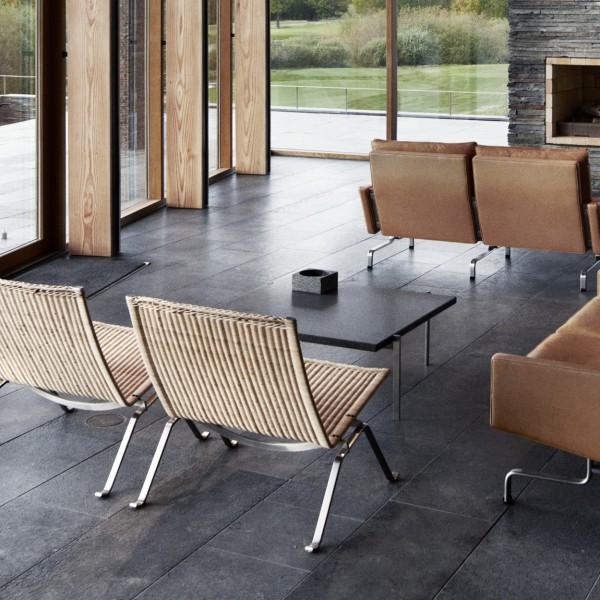 fritz hansen pk22 chair in riet. Black Bedroom Furniture Sets. Home Design Ideas