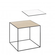TWIN 35 TABLE WHITE/OAK