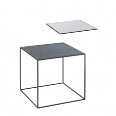 BY LASSEN TWIN 35 TABLE COOL GREY/BLACK STAINED ASH