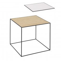 TWIN 42 TABLE WHITE/OAK