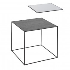 BY LASSEN TWIN 42 TABLE COOL GREY/BLACK STAINED ASH