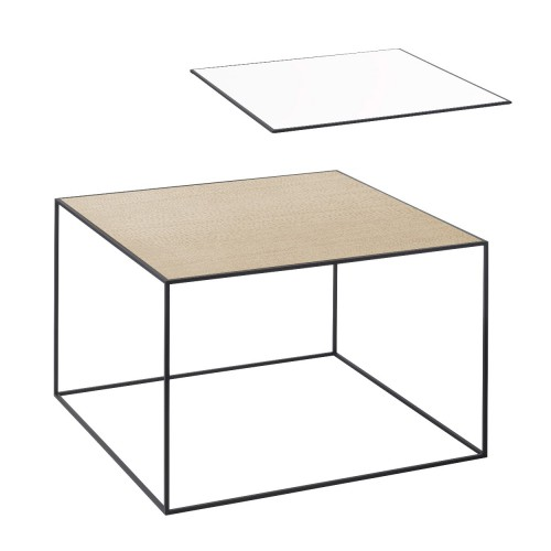TWIN 49 TABLE WHITE/OAK