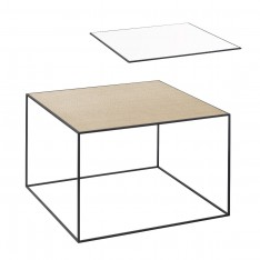 BY LASSEN TWIN 49 TABLE WHITE/OAK
