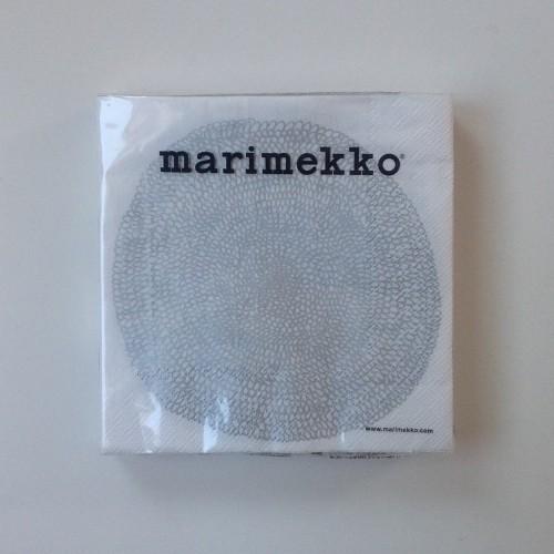 MARIMEKKO PAPER NAPKIN - LARGE - PIPPURIKERÄ WHITE SILVER