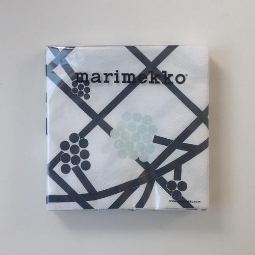 MARIMEKKO PAPER NAPKIN - LARGE - HORTENSIE TURQUOISE