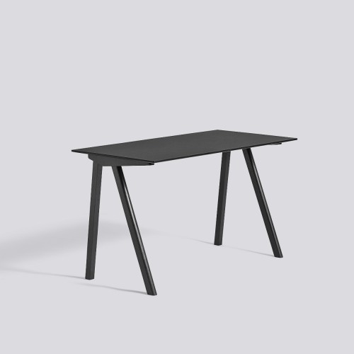 CPH90 DESK BLACK STAINED OAK FRAME