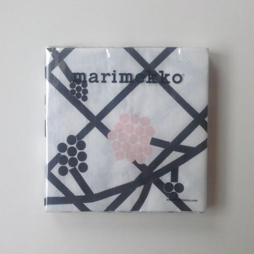 MARIMEKKO PAPER NAPKIN - LARGE - HORTENSIE PINK