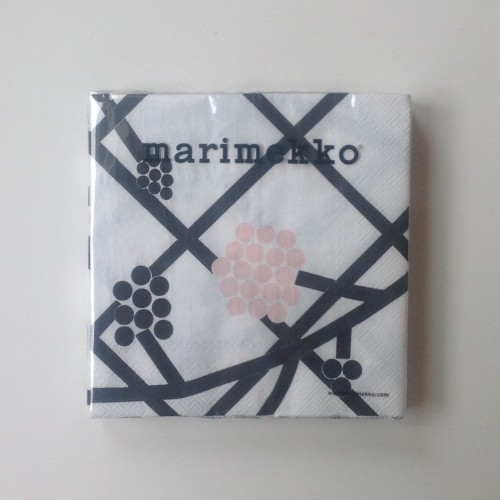 MARIMEKKO SERVIETTE EN PAPIER - GRAND - HORTENSIE ROSE