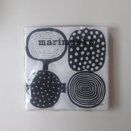 MARIMEKKO PAPER NAPKIN - LARGE - KOMPOTTI BLACK
