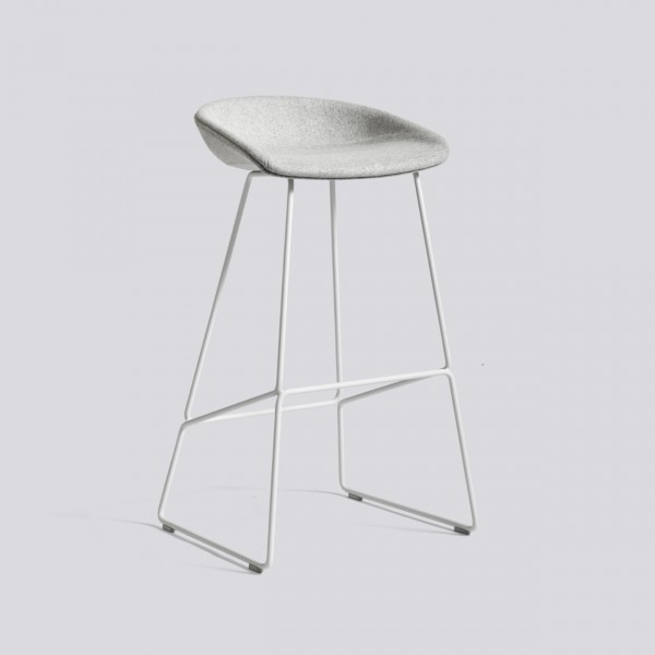 Hay Aas 39 Upholstered Bar Stool With Steel Base