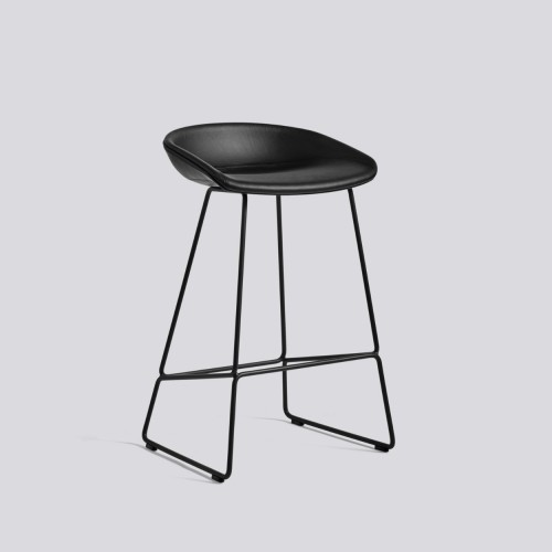 AAS 39 BAR STOOL LEATHER SIERRA BLACK