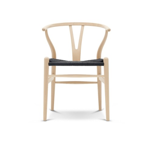 CH24 WISHBONE CHAIR - CLASSIC + BLACK SEAT